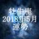 牡牛座(おうし座) 2018年5月の運勢
