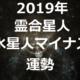 【2019年】霊合星人 水星人マイナス(-)2019年の運勢を占う