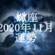 さそり座(蠍座)2020年11月の運勢